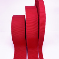 8000  Col. 22 Red Petersham Grosgrain Ribbon, 7 Sizes - Sold by the Yard