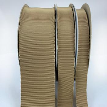 8000 Petersham, Khaki Grosgrain Ribbon, Col. 35 - 8 Sizes, Sold by the Yard