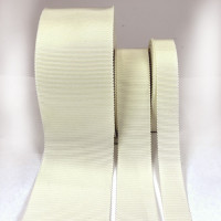 8000 Col. 40 Cream Petersham Grosgrain Ribbon, 5 Sizes - Sold by the Yard
