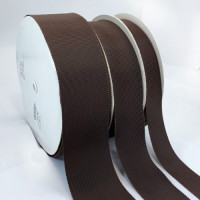 8000 Col. Brown 135  Petersham Grosgrain Ribbon, 9 Sizes - Sold by the Yard