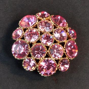 9183-Gold Base,  4 Sizes - 8 Stone Colors