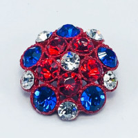 """9183TA3 -Red White And Blue Enameled Base Button 1"""""""