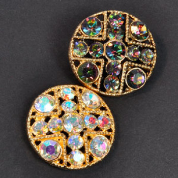 9410- Gold or Ant. Gold Base AB Stones (3 Colors)