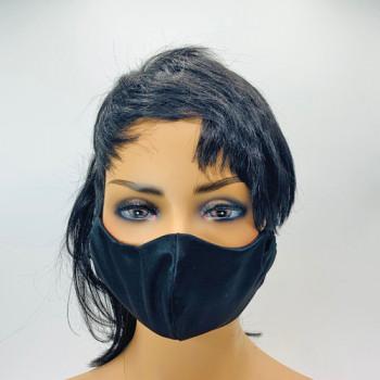 AF-251 Black Satin Protective Face Mask — Sold per piece, or in Packs of 5