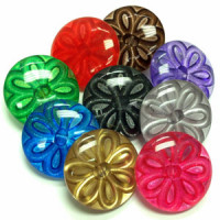 CL-1550 - Acrylic Button - 9 Metallic Colors