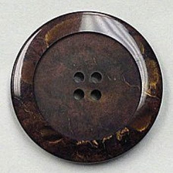 1187-Dark Brown Marbled Button, 6 Sizes