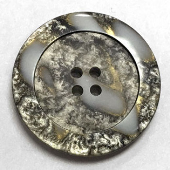 1187-Grey Marbled Button, 5 Sizes