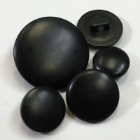 2006 - Matte Black Shank Button - 4 Sizes, Priced per Dozen