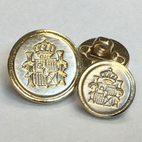 350133 Nickel + Gold Blazer Button, 2 Sizes