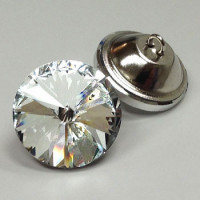 4525 Crystal Glass  Rivoli Rhinestone Button - 6 Sizes