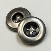 A-520 Antique Silver Metal Button