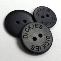 "BD-10 Black 2-Hole ""Dickies"" Uniform Button, Priced by the Dozen"
