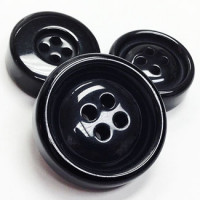 BK-8123-Black Fashion Button, 3 Sizes