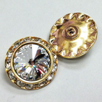 C-0520A - Swarovski Rhinestone Button, 2 Sizes