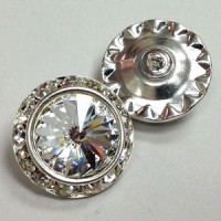 C-0521A - Swarovski Rhinestone Button, 2 Sizes