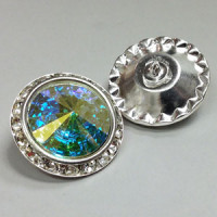C-0726  Crystal AB Rhinestone Button
