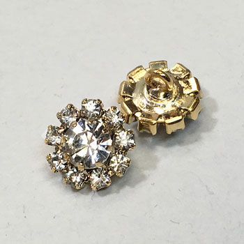 C-1338-Crystal Rhinestone Button