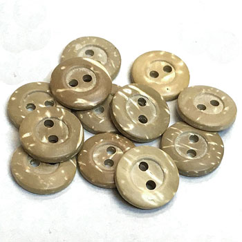 CO-210-D Bleached Coconut Shirt Button, Priced by the Dozen