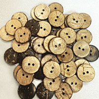 "CO-612G - 5/8"", Natural Coconut Button, Sold in lots of 144 pieces"