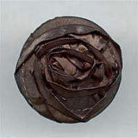 F-4004-Brown Flower Button