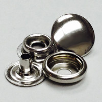 FSN-12 - Silver 4-Part Ring Snaps, Priced per Dozen