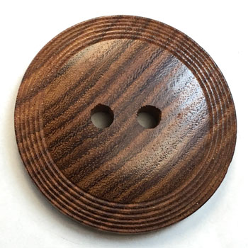 GHW-1267 Carved Wood Button