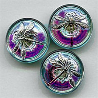 GL-1318 Glass Dragonfly Button