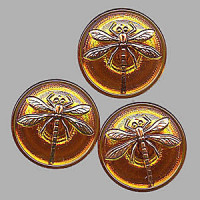 GL-1994 Glass Dragonfly Button