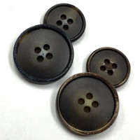 HNX-155-Weathered Horn Look Button - 2 Colors