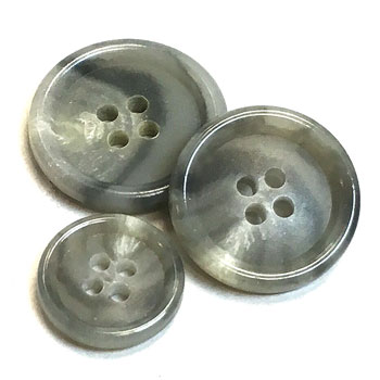 "HNX-21 -  Grey Suit Button - 2 Sizes (no 5/8"")"