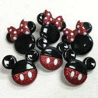 JJ-7718 Disney Mickey and Minnie Mouse Buttons