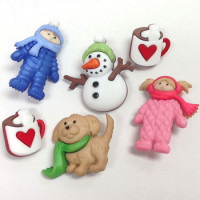 JJ-8312 Winter Theme Buttons