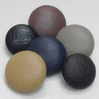 LL-1082 Faux Leather Covered Button - 6 Colors