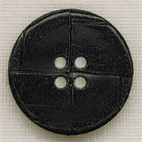 LL-6180-Black Faux Leather Button, 3 Sizes