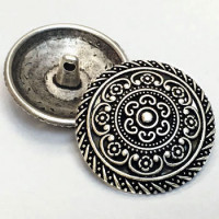 M-030-Antique Silver Metal Fashion Button