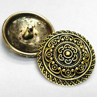 M-031-Antique Gold Metal Fashion Button