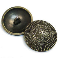 M-032-Antique Brass Metal Fashion Button