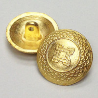 M-0522 Gold Metal Fashion Button