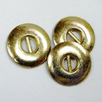 M-061 - 2-Hole Gold Metal Button