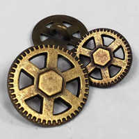 M-067  Metal Steampunk Button - 3 Sizes