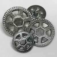 M-067A  Metal Steampunk Button - 3 Sizes