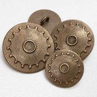 M-068  Metal Steampunk Button - 3 Sizes