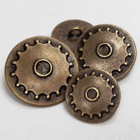 M-069  Metal Steampunk Button - 3 Sizes