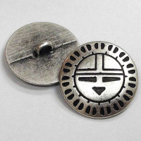 M-1112  Concho Style Metal Button