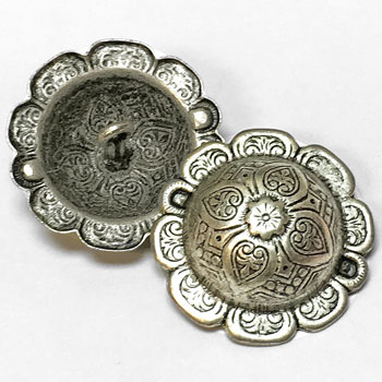 M-1207-Concho Style Metal Button