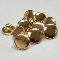 MGP-1216 - Plated Gold Shirt Button, Priced per Dozen