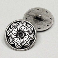 M-123-Etched Metal Button, 2 Sizes