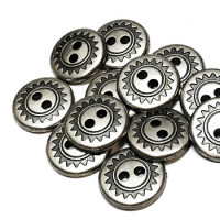 M-1232-D Metal Shirt Button, Priced per Dozen