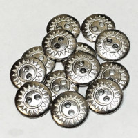M-1233-D  Metal Shirt Button, Priced per Dozen
