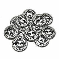 M-1234-D - Metal 2-Hole Shirt Button, Priced per Dozen
